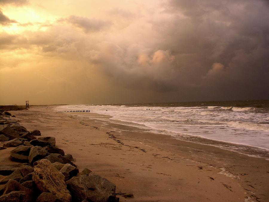 Sea Gull Photograph - Storm On The Beach by Paul Boroznoff
