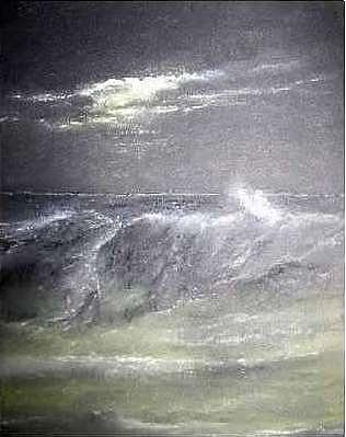 Waves Painting - Storm Surge by Brian Higgins