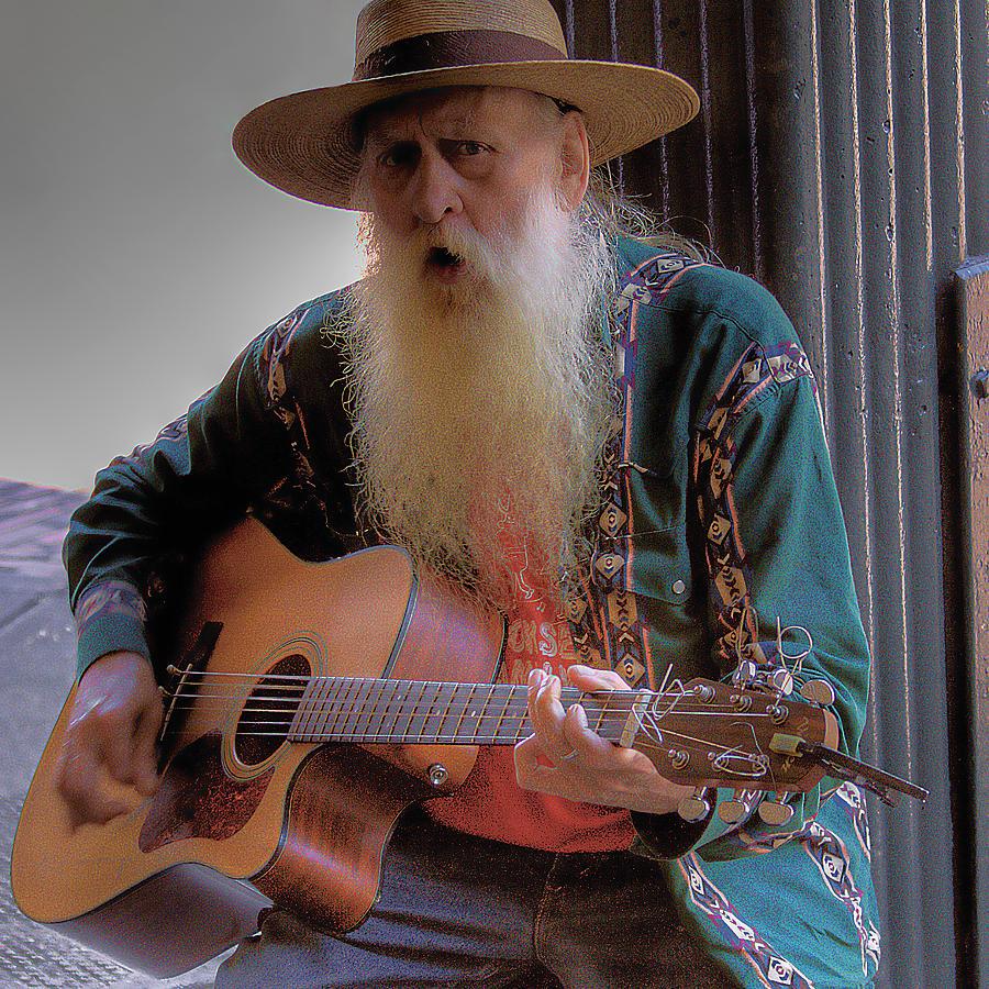 Street Musician Photograph - Street Musician by David Patterson