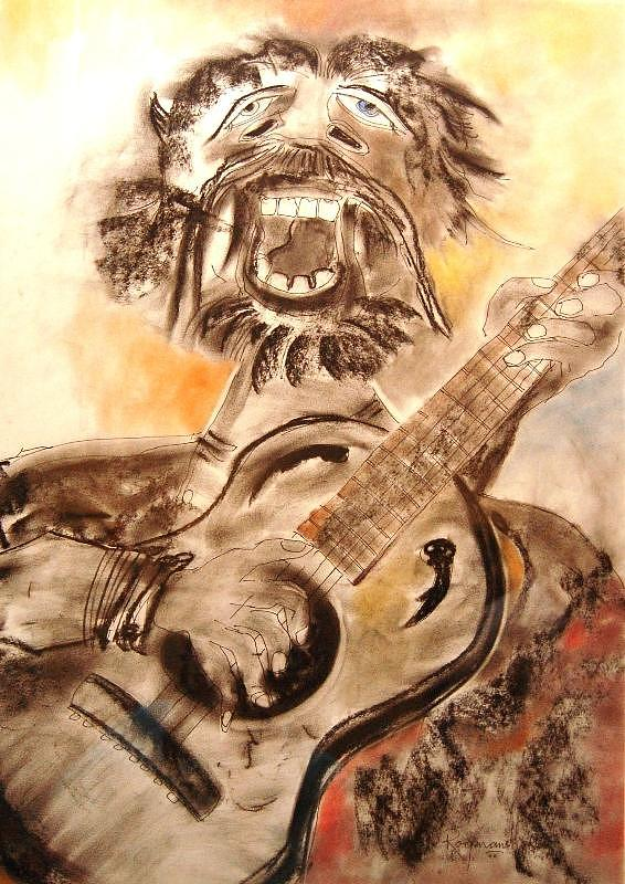 Painting Painting - Street Musician  by Manas Roy