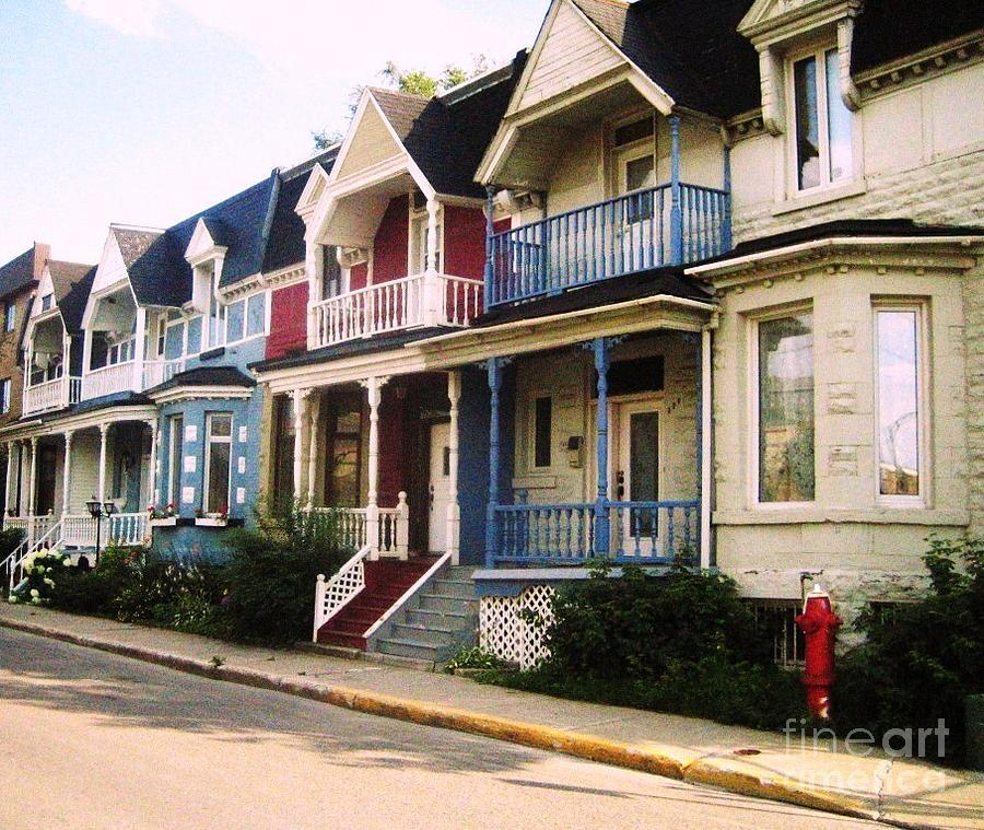 Houses Photograph - Streets Of Montreal by Reb Frost