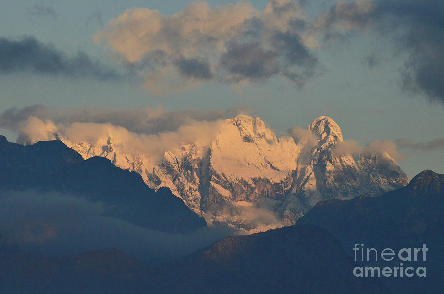 Mountains Photograph - Stunning Landscape View Of The Italian Alps  by DejaVu Designs