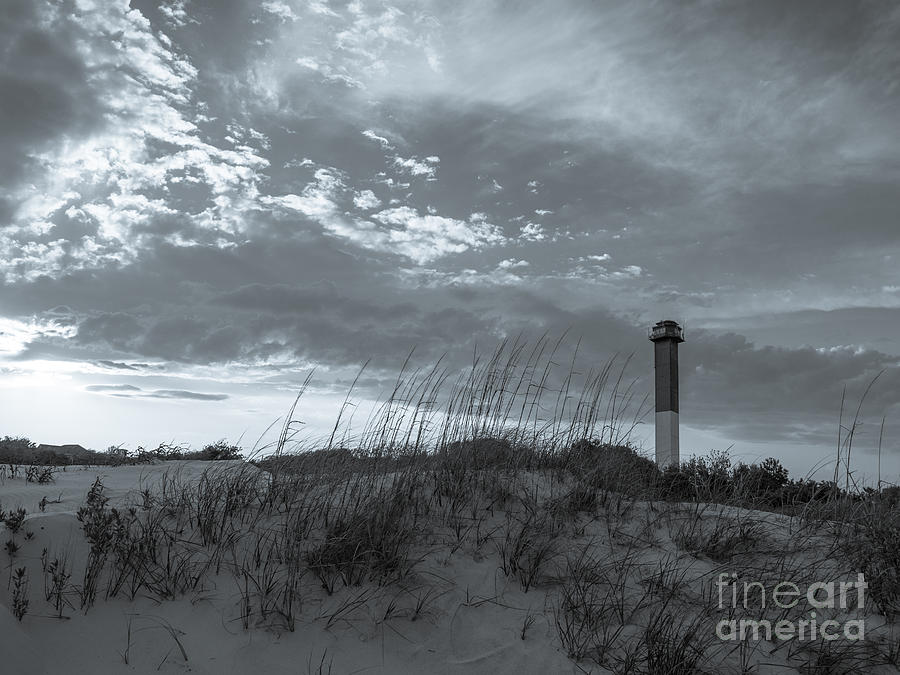 Sullivans Island Lighthouse In Black And White 4 Photograph