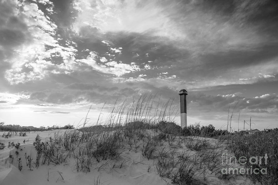 Sullivans Island Lighthouse In Black And White 8 Photograph