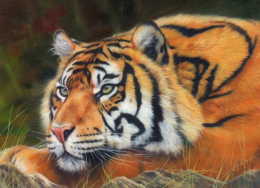 Sumatran Tiger Painting