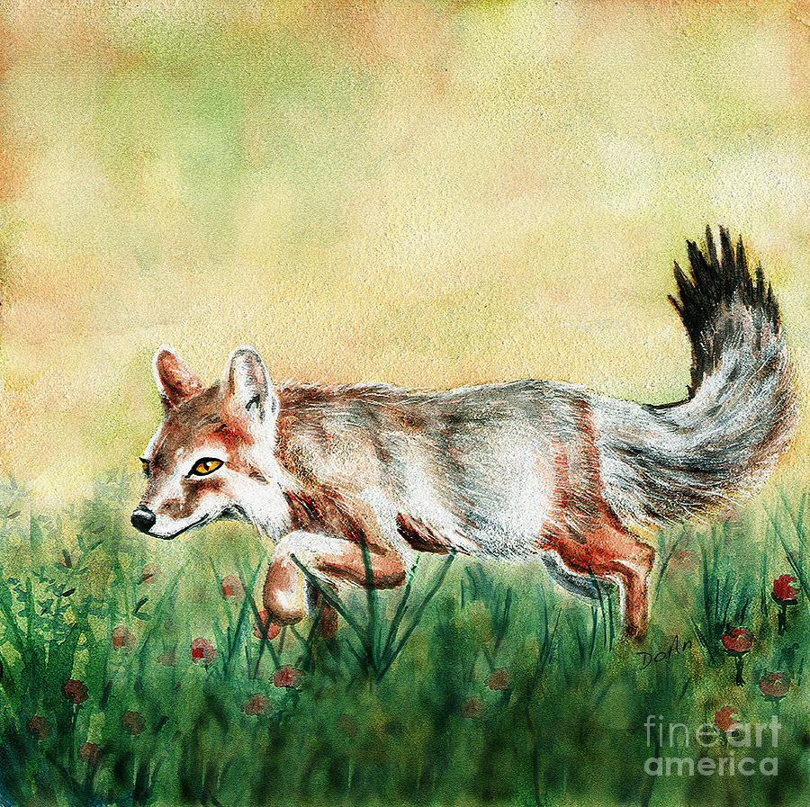 Kit Fox Painting - Summer Fox by Antony Galbraith