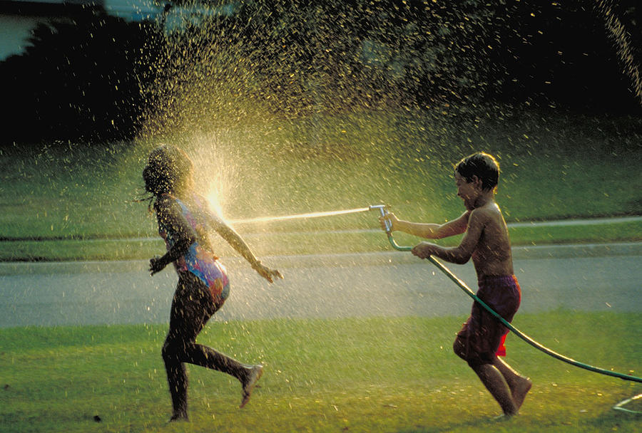 Hose Photograph - Summer Fun by Carl Purcell