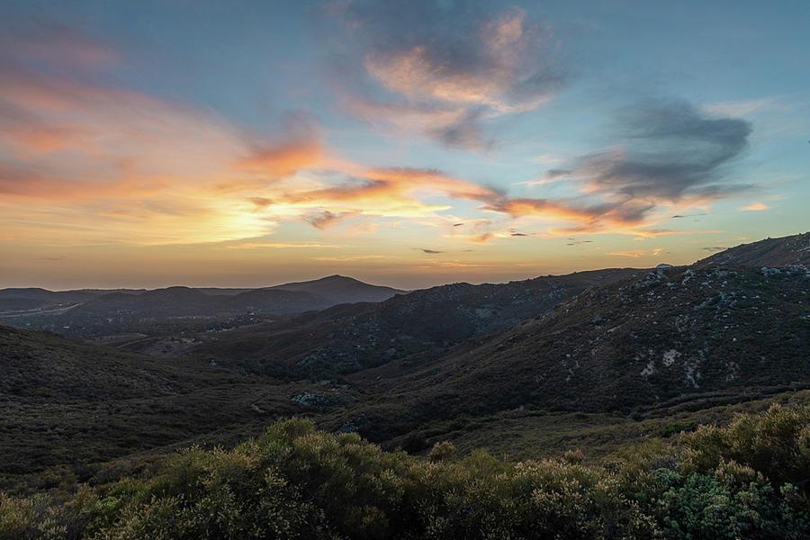 Sunset Photograph - Summer Overlook by TM Schultze