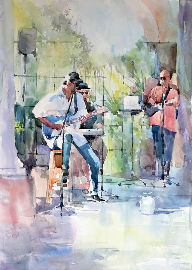 Musician Painting - Summer Song by Natalia Eremeyeva Duarte