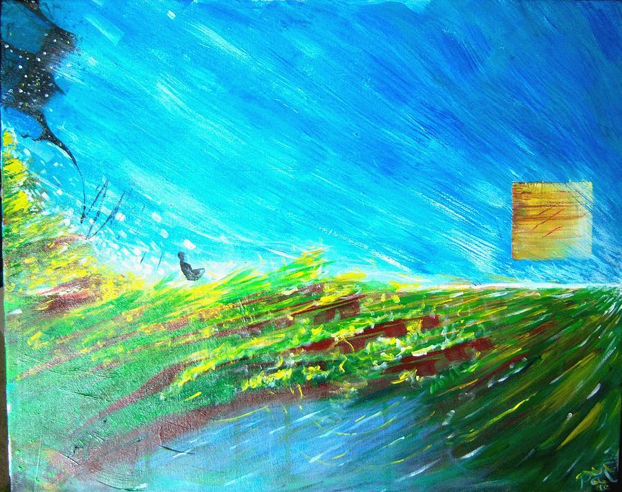 Buddha Painting - Sun by Harminder Paul
