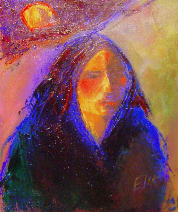 Native American Theme Artwork Painting - Sun Power by Johanna Elik