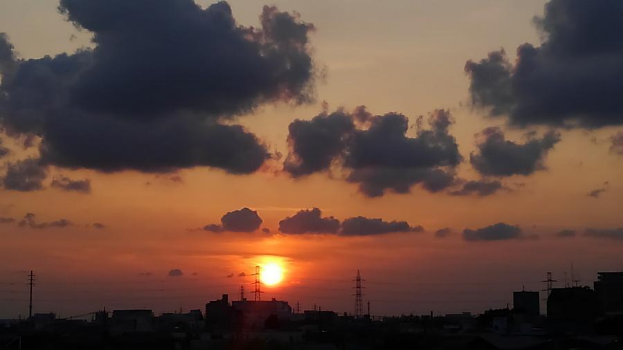 Sundown Drawing - Sundown by Kumiko Izumi