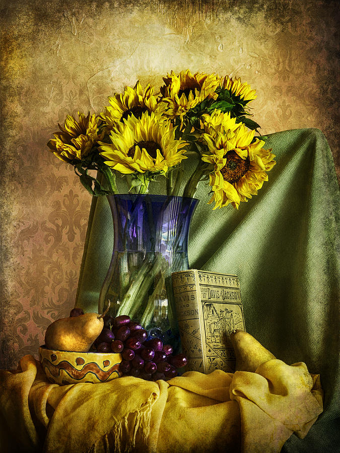 Sunflowers and Fruit  by Sandra Selle Rodriguez