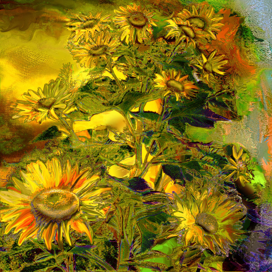 Sunflower Painting - Sunflowers by Anne Weirich