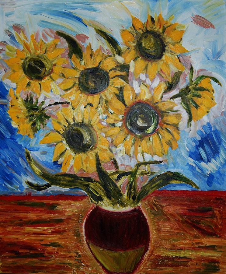 Flowers Painting - Sunflowers  by Ian  Fruehauf