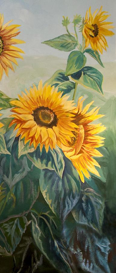 Sun Painting - Sunflowers by Jana Goode