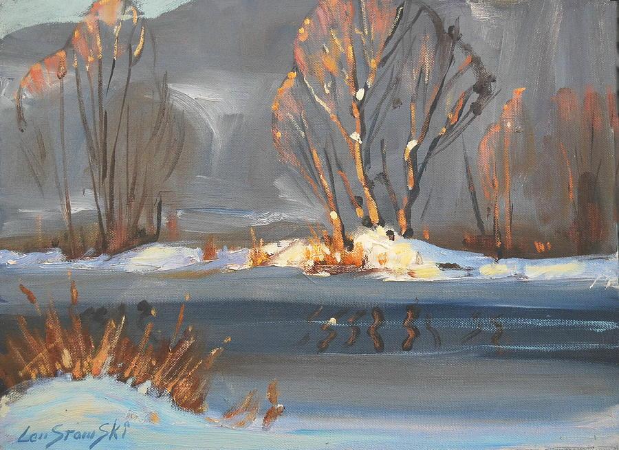 Water Painting - Sunlight Study by Len Stomski