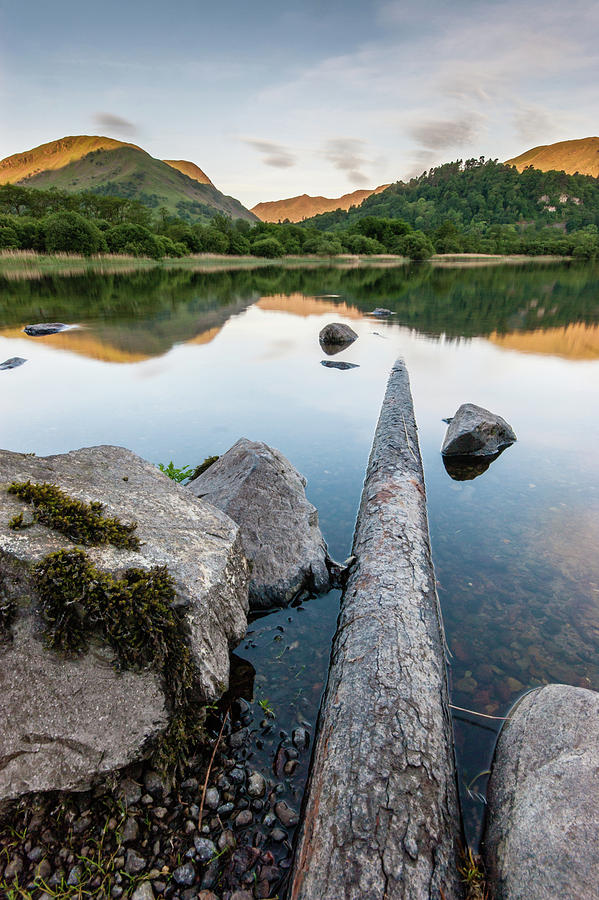Landscape Photograph - Sunrise At Ullswater, Lake District, North West England by Anthony Lawlor