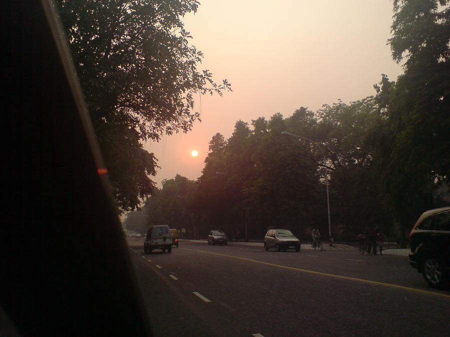 Sunrise In Delhi Photograph by Lalitmohan Khungar