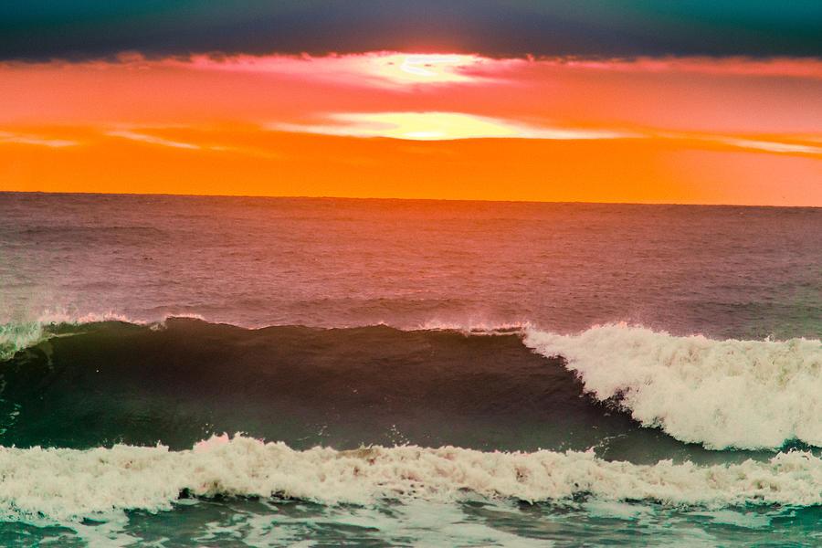 America Photograph - Sunrise Kissing Surf by Michael Goodin
