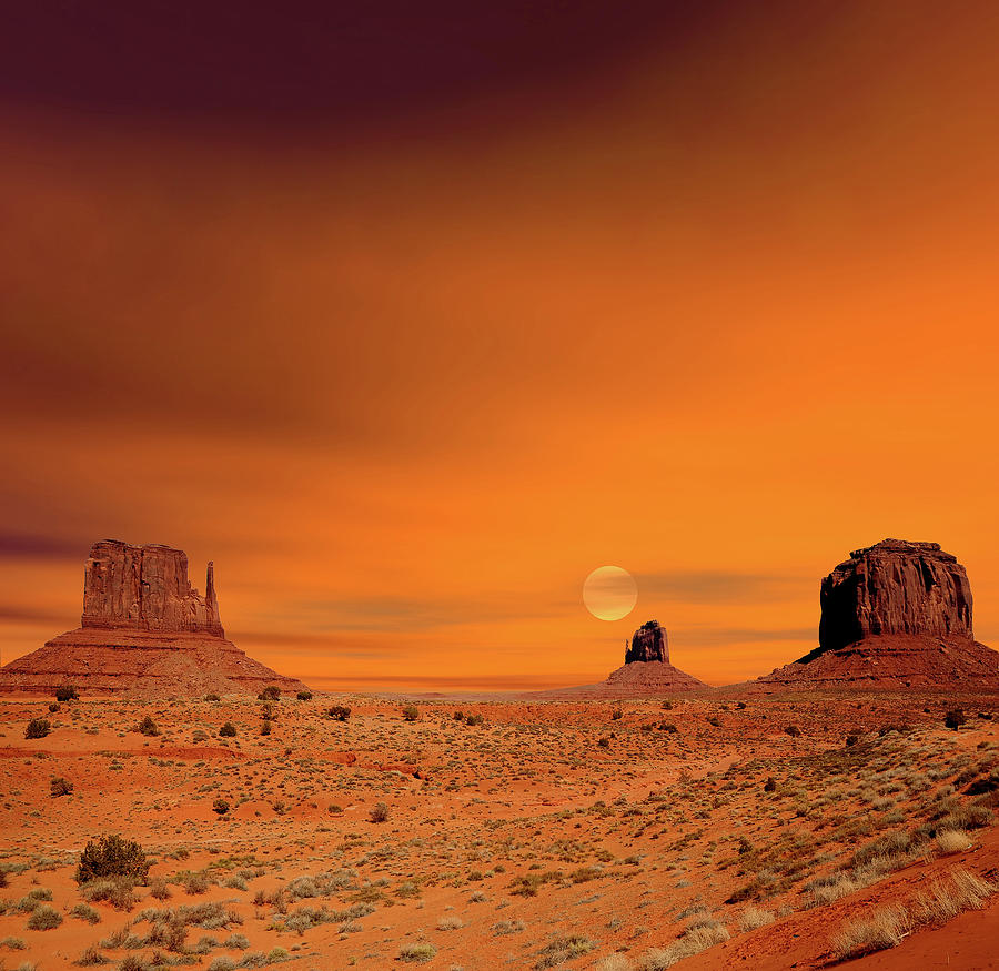 Monument Photograph - Sunrise Monument Valley by Paul Moore