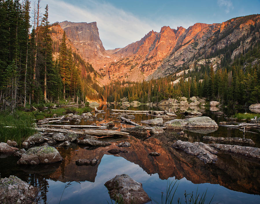 Dream Lake Sunrise by Kevin Schwalbe