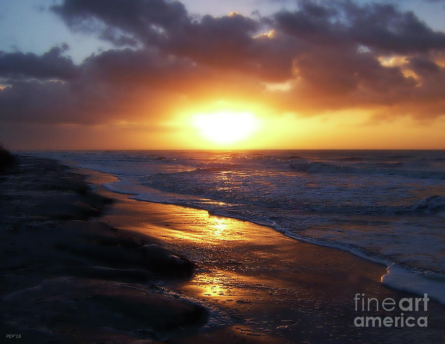 Sunrise Photograph - Sunrise Over Atlantic Ocean by Phil Perkins