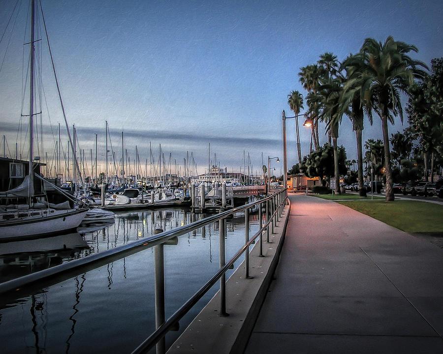 Sunrise Photograph - Sunrise Over Santa Barbara Marina by Tom Mc Nemar