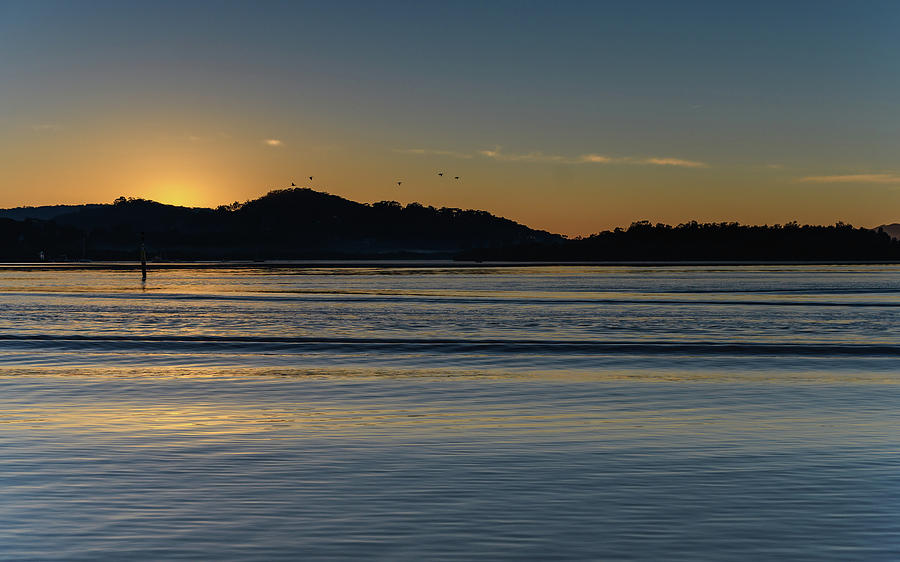 Australia Photograph - Sunrise Waterscape And Silhouettes by Merrillie Redden