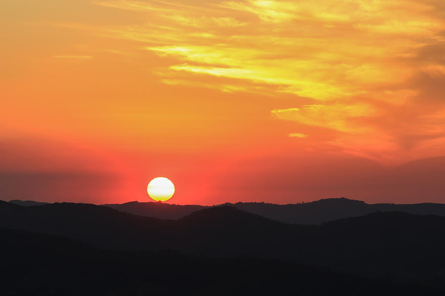 Sun Photograph - Sunset-1 by Fabio Giannini