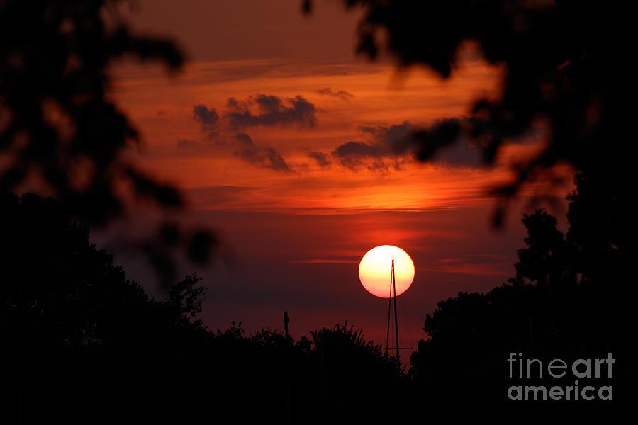 Sunset At Lake Hefner Photograph