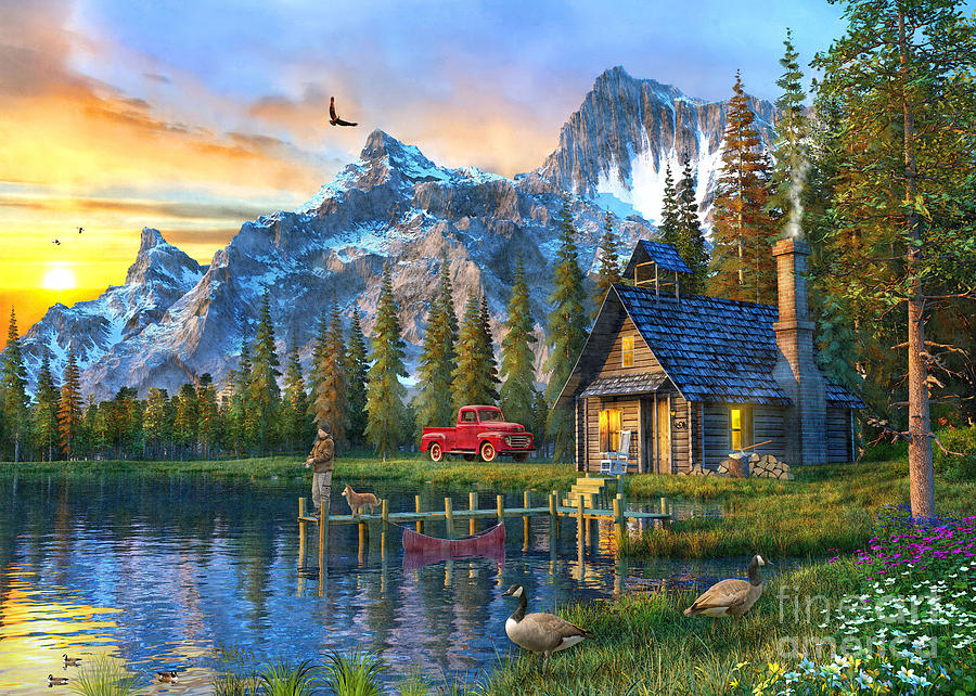 Sunset At Log Cabin Digital Art By Dominic Davison