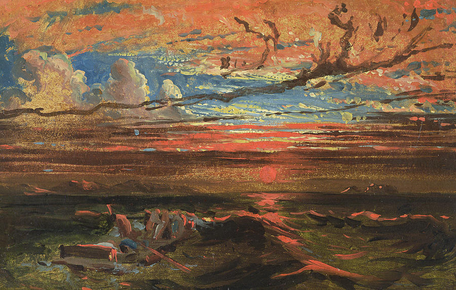 danby painting sunset at sea after a storm by francis danby - Danby