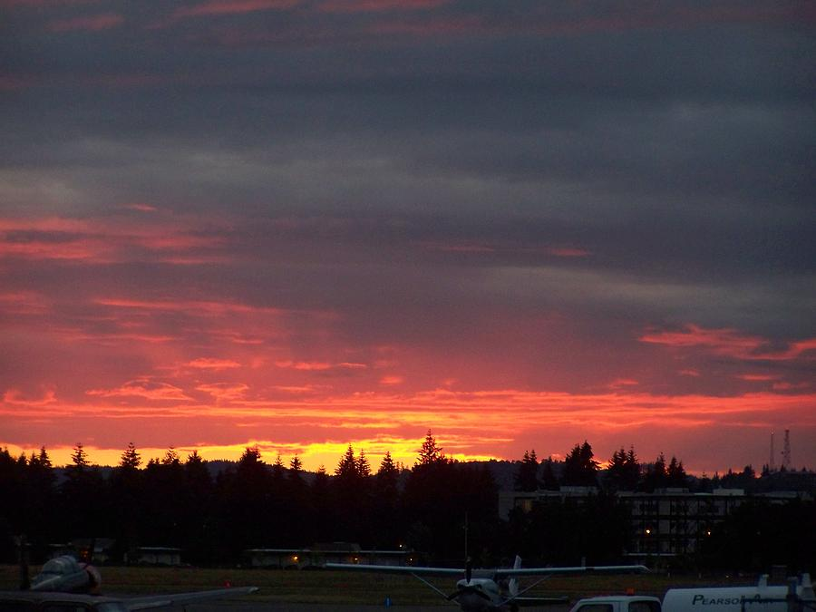 Digital Photography Photograph - Sunset At Tumwater by Laurie Kidd