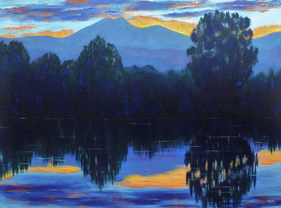 Sunset Painting - Sunset Blue by Margaret Bobb