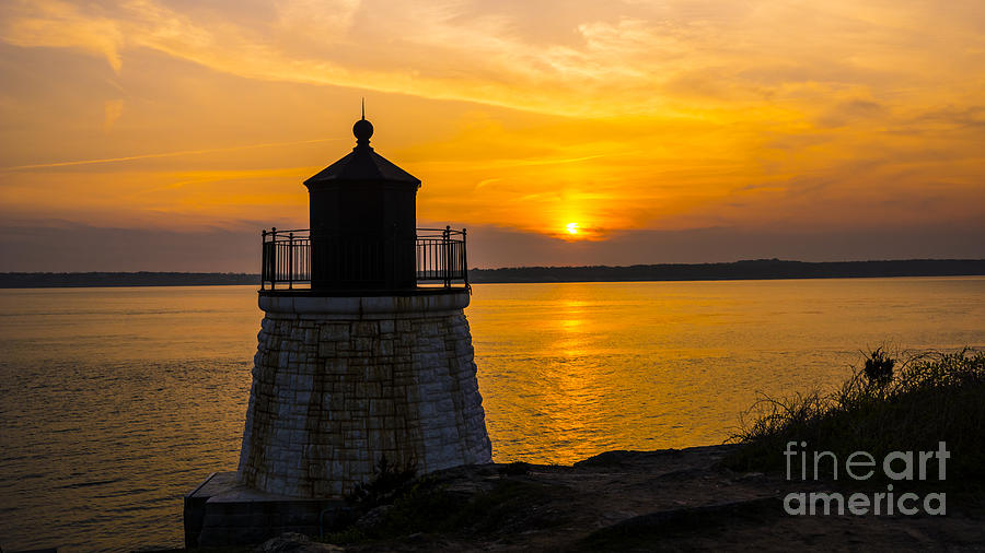 Sunset From Castle Hill Lighthouse. Photograph