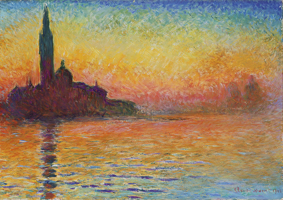 Sunset In Venice Painting - Sunset in Venice by Claude Monet