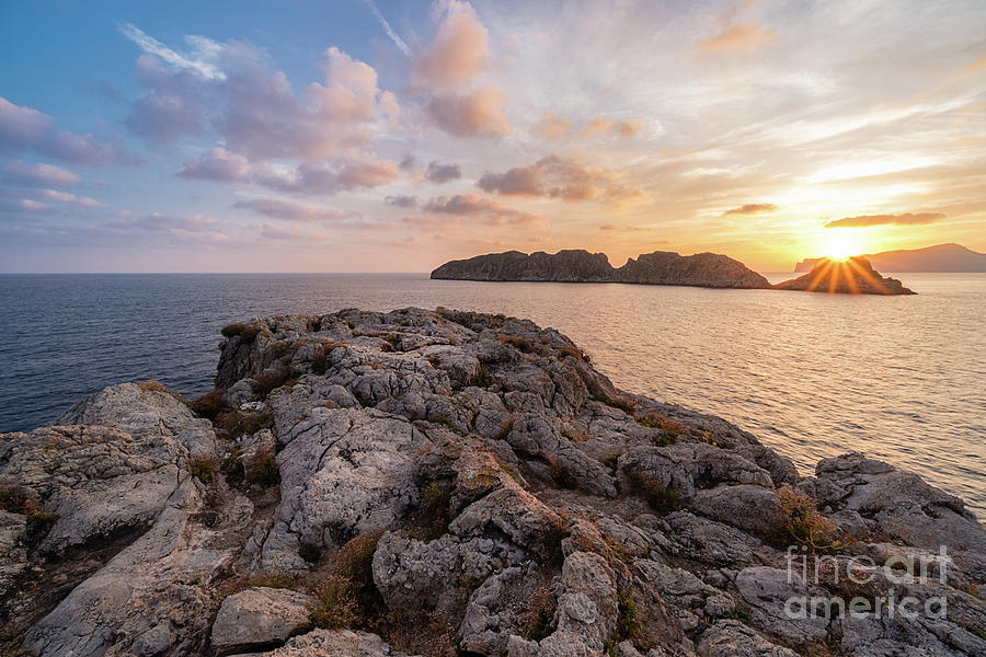 Sunset Malgrats Islands by Hans- Juergen Leschmann