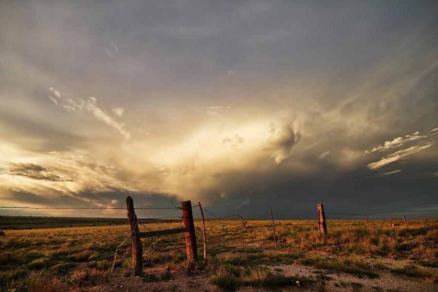 Sunset near Santa Rosa New Mexico by Ryan Crouse