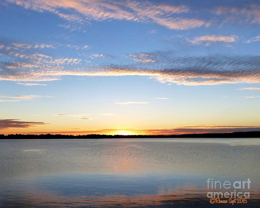 Landscape Photograph - Sunset On Delta Lake by Rennae Christman