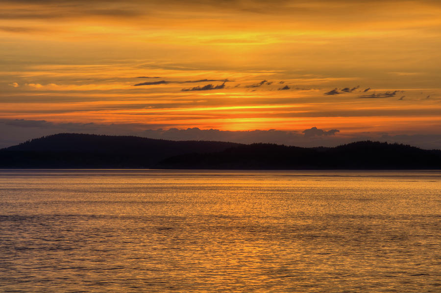 Sunset on rosario strait photograph by rich leighton for T shirts by design anacortes
