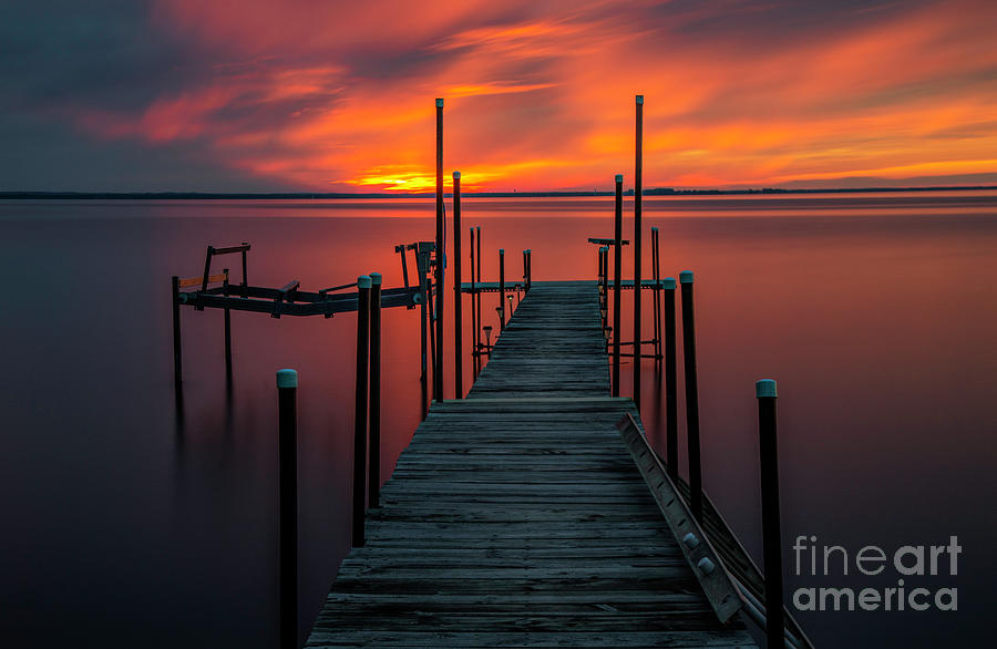 Sunset Photograph - Sunset On The Bay by Randy Kostichka