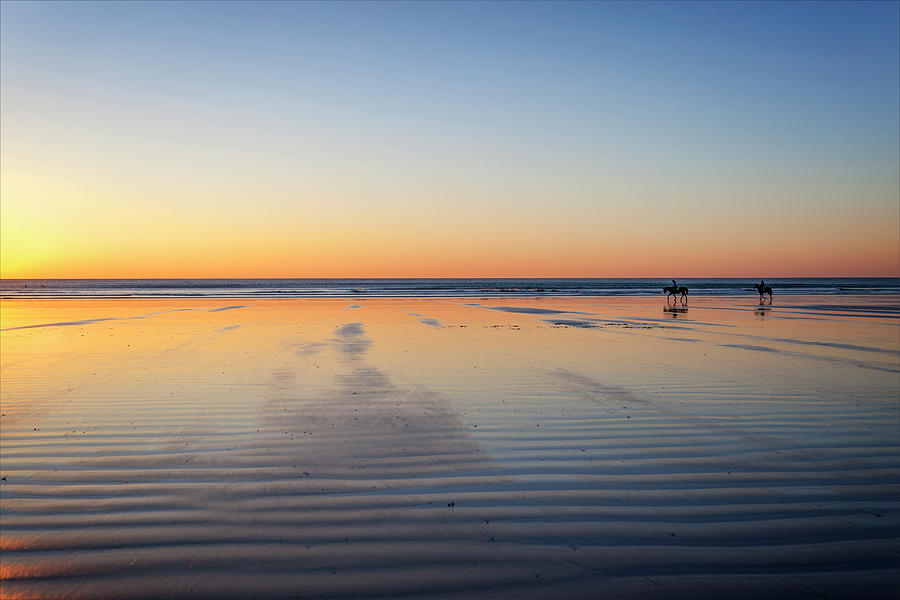 Sunset Photograph - Sunset On The Beach by Lorrie Joaus