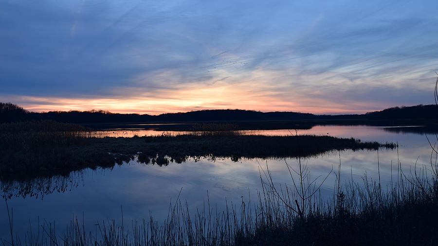 Sunset On The Marsh Photograph by Ann Keisling