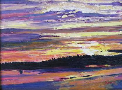 Sunset Painting - Sunset by Richard Nowak
