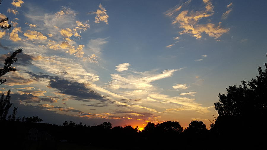 Sunset Photograph - Sunset Sky Over Ohio by Maureen Ida Farley