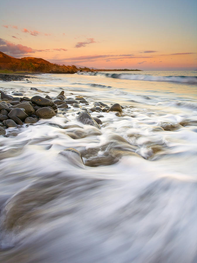 Beach Photograph - Sunset Tides by Mike  Dawson
