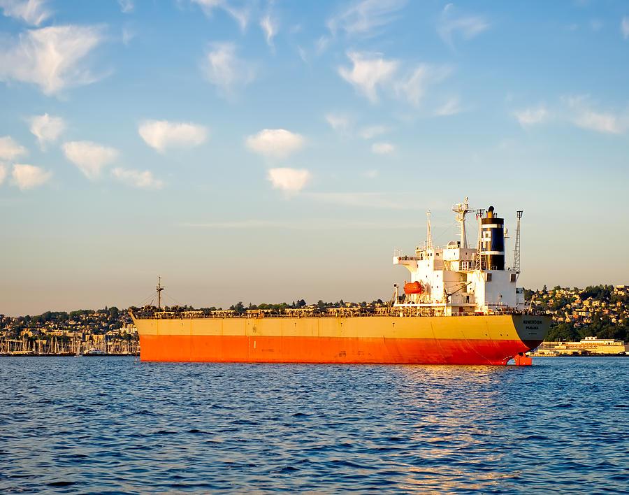 Supertanker Photograph - Supertanker by Tom Dowd
