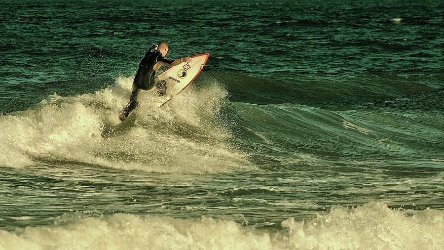 Surfing Photograph - Surfing - Jersey Shore by Angie Tirado