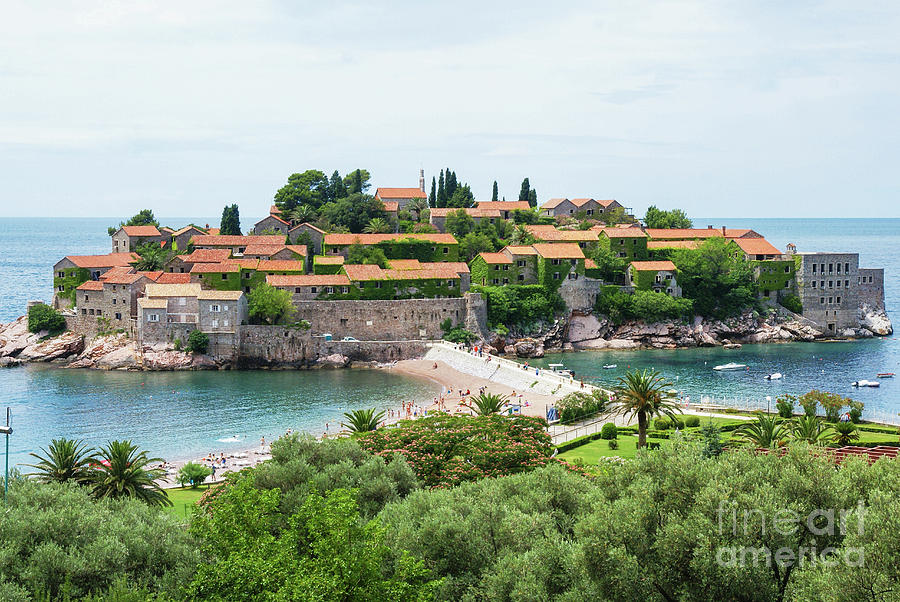 Travel Photograph - Sveti Stefan, Montenegro by Ruth Hofshi